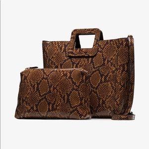 Staud snake embossed leather Shirley